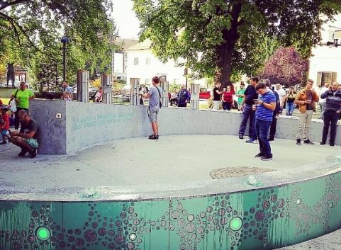La fontana di birra a Zalec.jpg