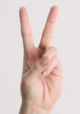 Risultati immagini per v di vittoria con dita